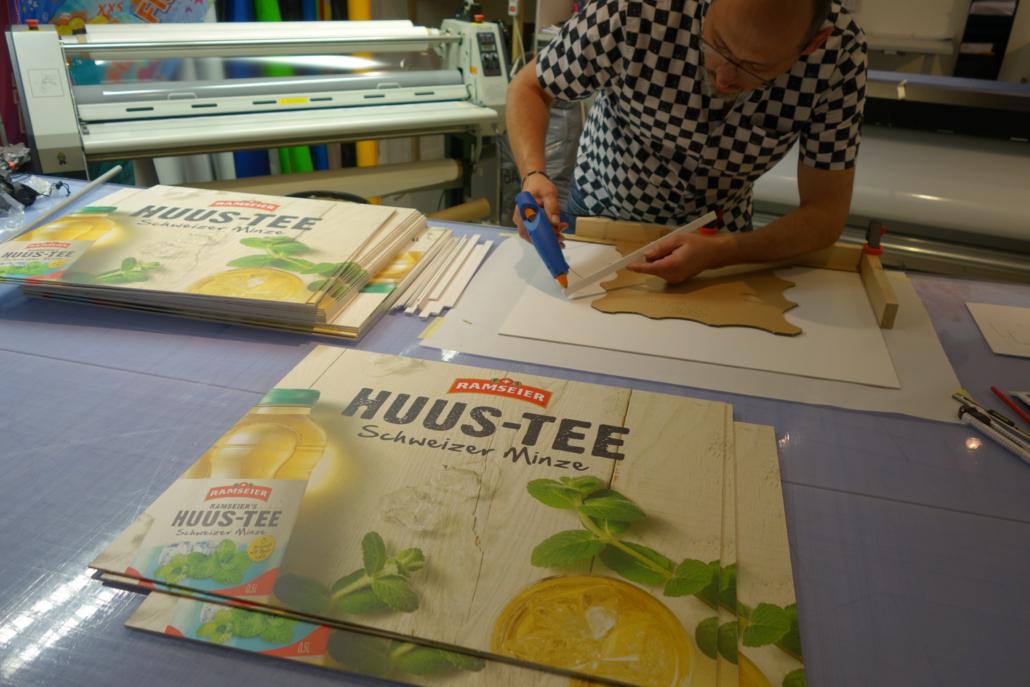 progra Beschriftung Oensingen Plattendruck Schilder Werbung Druckerei