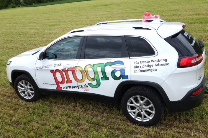 progra - Für Ihre Fahrzeugbeschriftung-Autobeschriftung in Oensingen Ihr Partner