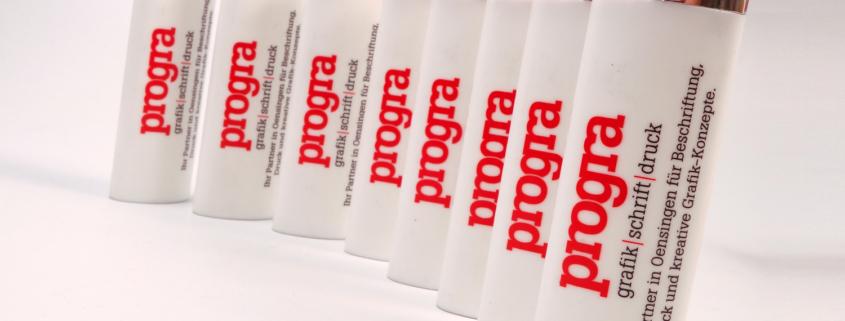 progra - Werbefeuerzeuge von BiC mit Druck