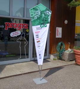 progra - FlipFlag die Beach-Fahne bedruckt aus Oensingen