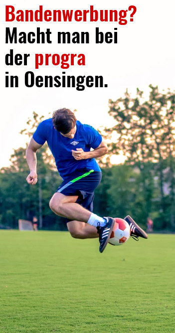 progra - Bandenwerbung FC Oensingen