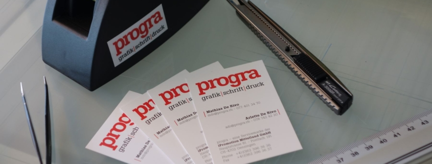 progra - Beschriftungen Oensingen Druckerei-Montage