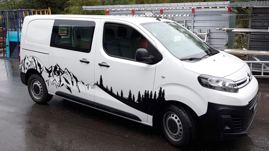progra - Folienbeschriftung am Fahrzeug
