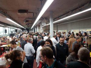 Viele Gäste tummelten sich in der Druckerei
