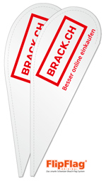 Yes wir liefern die FlipFlag Beachfahnen aus Oensingen