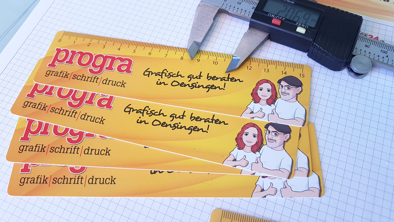 progra - Werbeartikel Massstäbe aus Folie