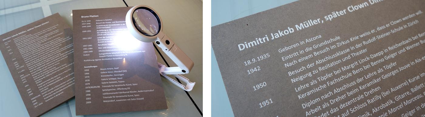 progra - Bedruckte MDF-Platten als Schilder für Ausstellung