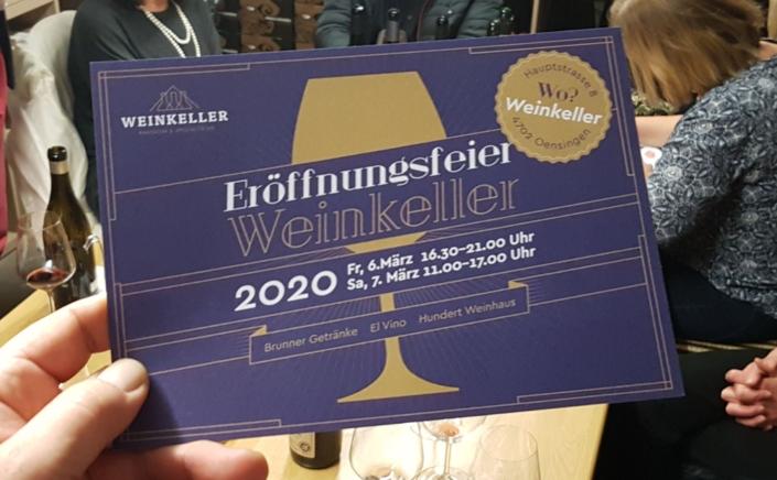 Weinkeller Oensingen - Eröffnung
