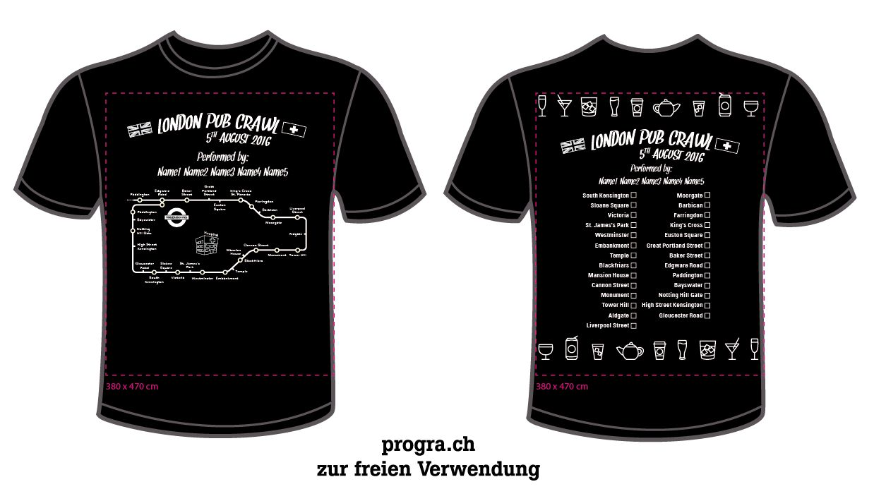 progra - London Pub Crawl Shirts