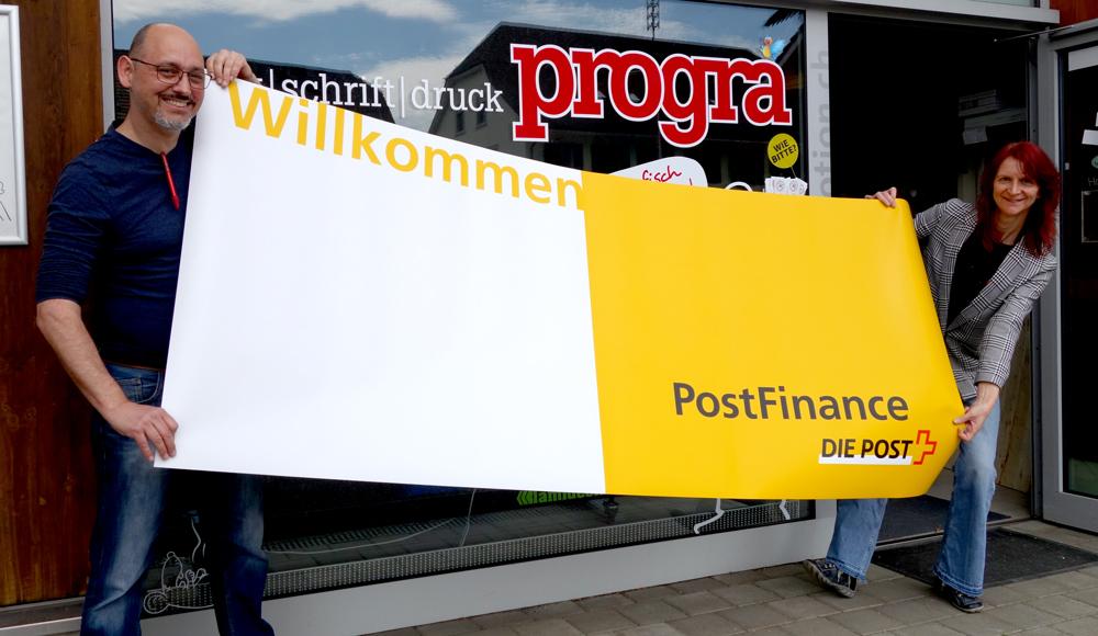 progra - Wir sind die Druckerei in Oensingen für Displays und RollUps