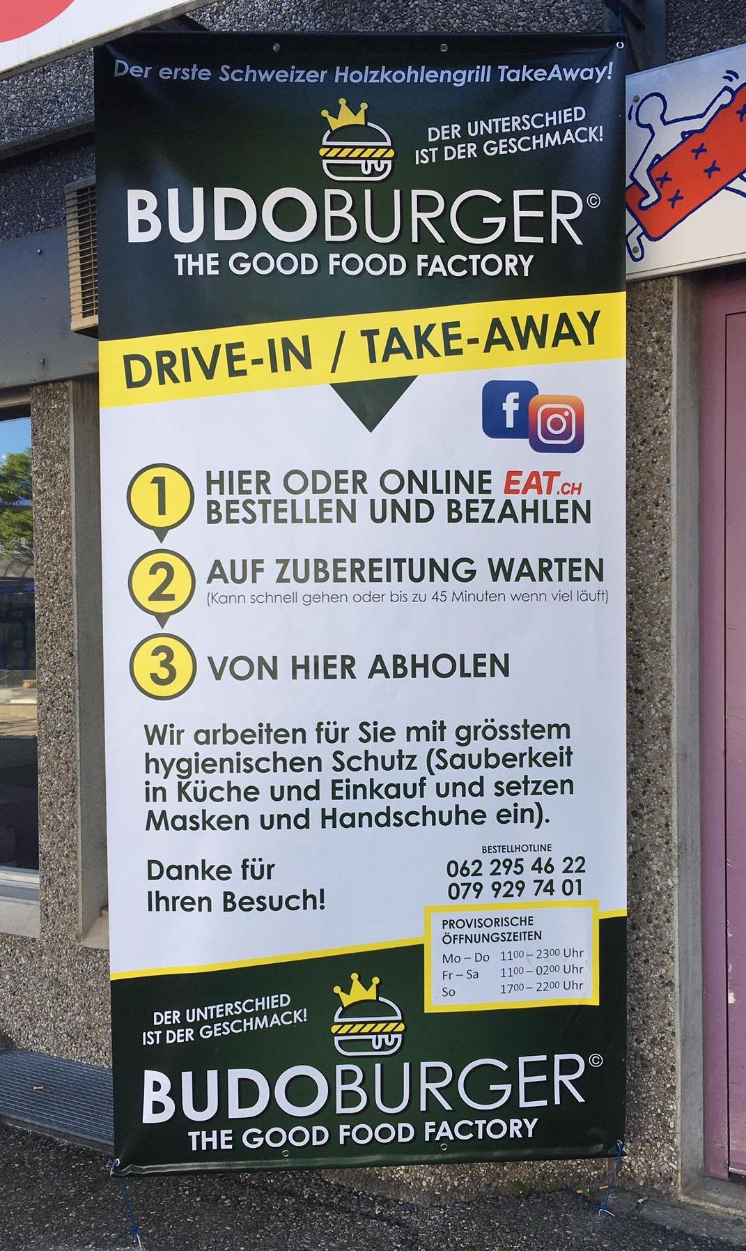 Der Lieferdienst und Take-Away aus Egerkingen Budo Burger