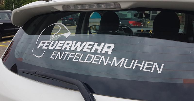 Heckscheiben Beschriftung für Autos in Oensingen