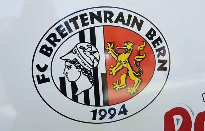 FC Breitenrain Fussball Club - Werbetafel von der progra Oensingen