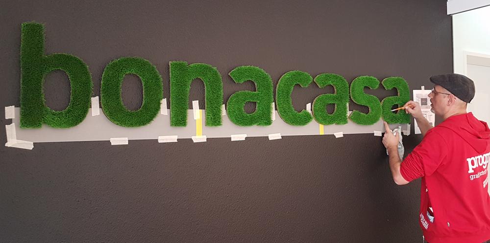 progra - Logo aus Gras