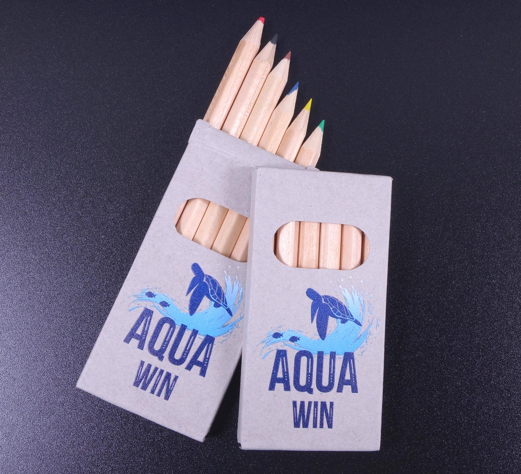 Farbstifte und Bleistifte als Werbeartikel Giveaway mit Druck