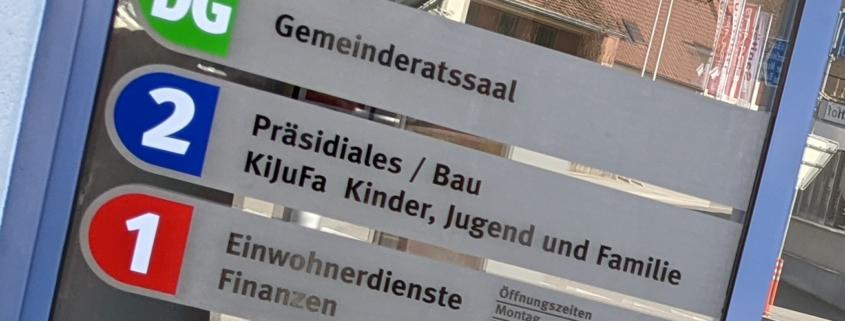 Gemeinde Oensingen progra beschriftet