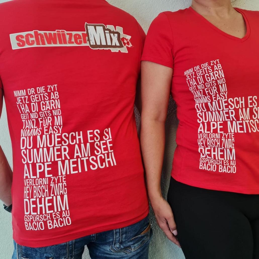 SchwiizerMix das Shirt zur Musik
